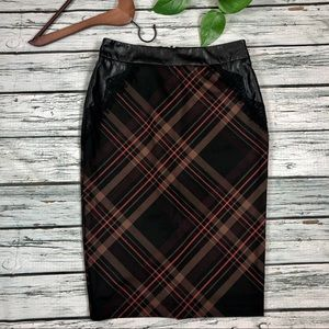 NY & Co 7th Avenue plaid skirt Sz 6